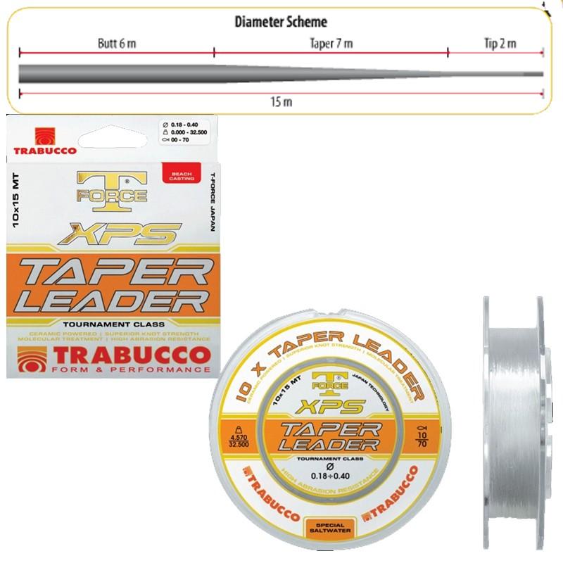 Filo Conico Trabucco XPS Taper Leader 10 pz x 15 m