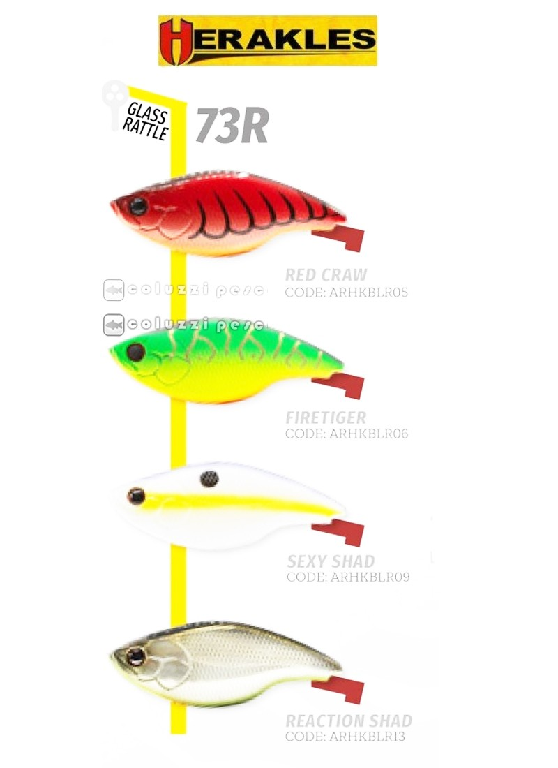 Artificiale Herakles Blaze 73 Rattle Sexy Shad