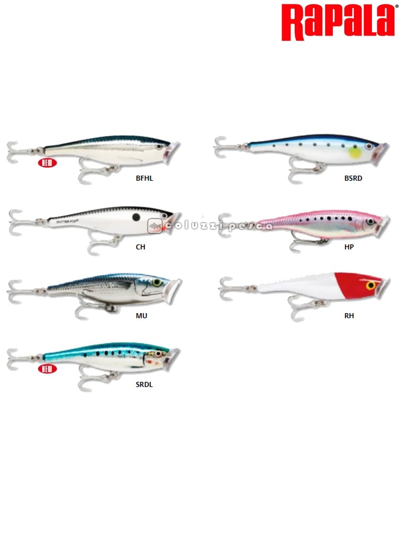 Artificiale Rapala Saltwater Skitter Pop 12 cm BFHL