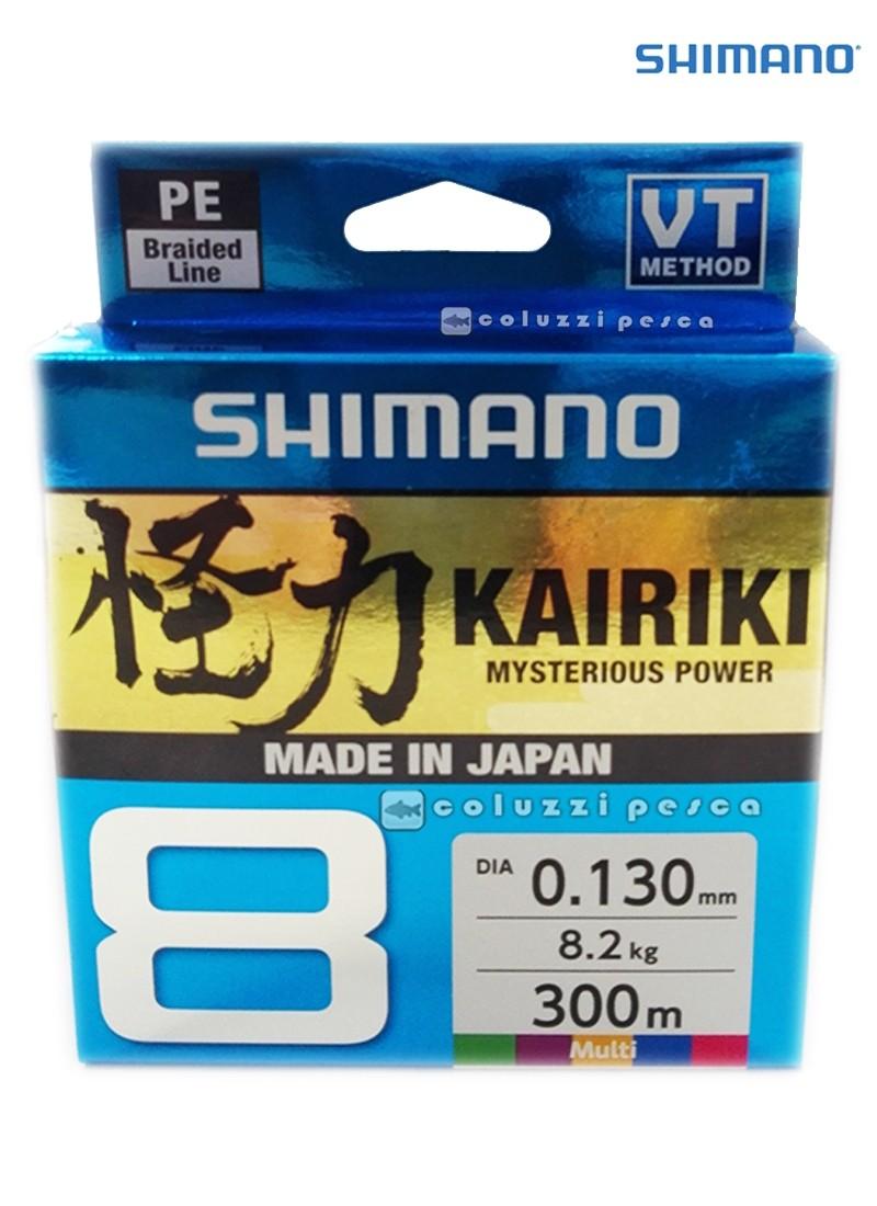 Trecciato Shimano Kairiki 8 300 m Multicolor