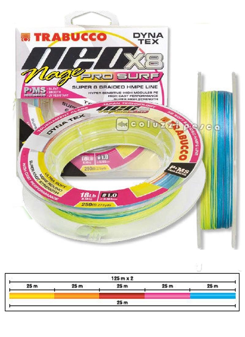 Trecciato Trabucco Neo X8 Nage Pro Surf 250 m