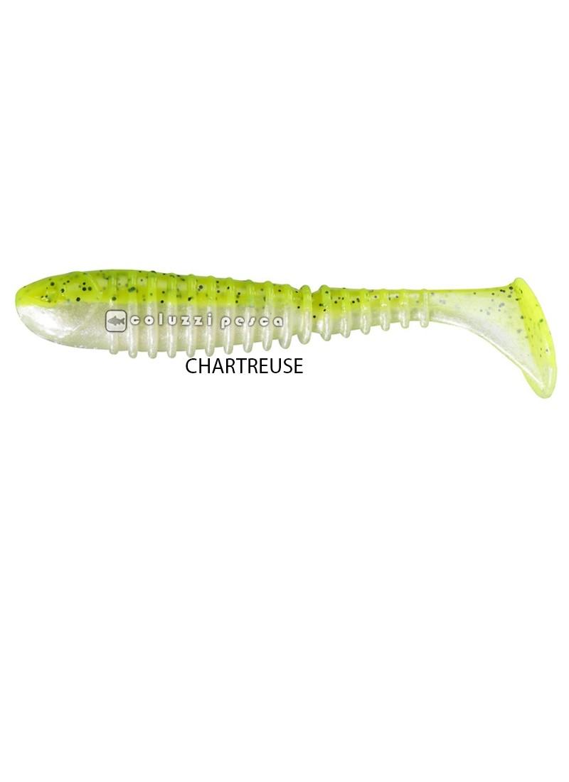 Artificiale Gomma Berkley Flex Rib Shad 6,5 cm Chartreuse