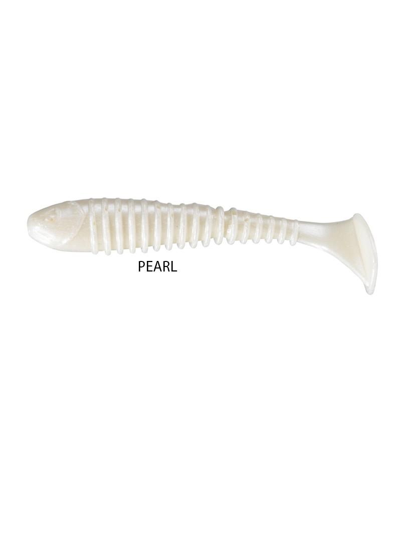 Artificiale Gomma Berkley Flex Rib Shad 6,5 cm Pearl