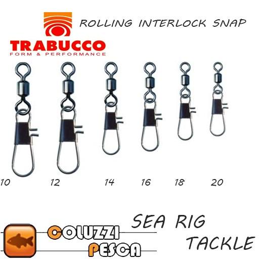 Girella con Moschettone Trabucco Rolling Interlock Snap