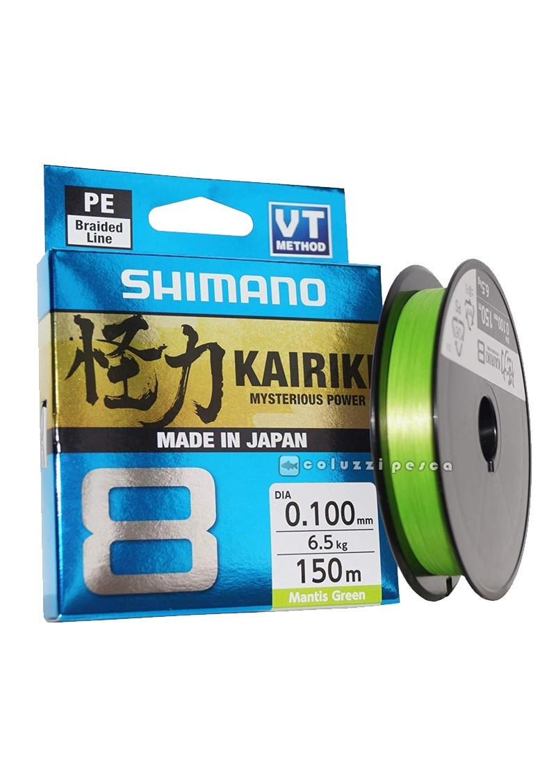 Trecciato Shimano Kairiki 8 150 m Mantis Green