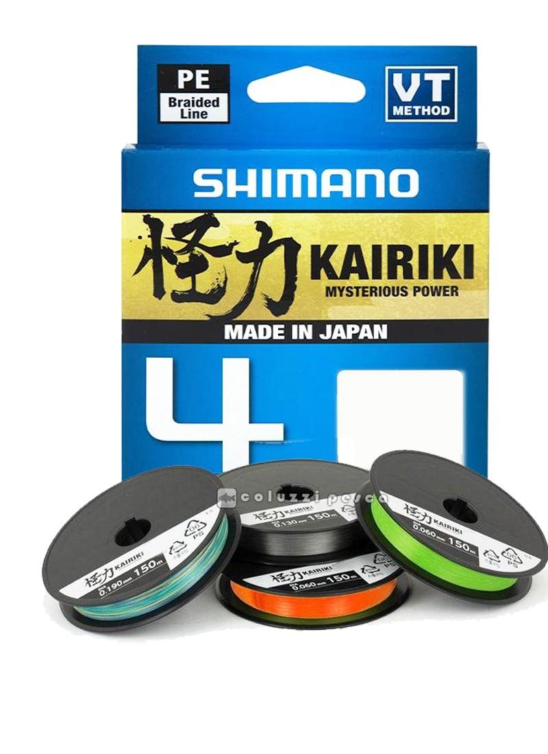 Trecciato Shimano Kairiki 4 Mantis Green150 m