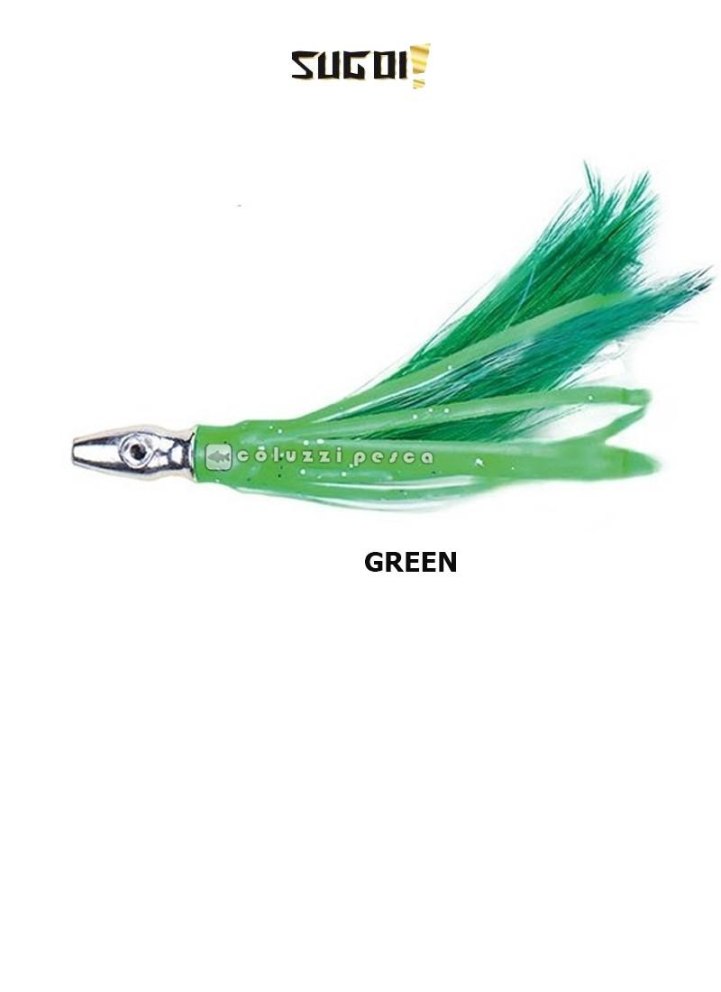 Piumetta Piombata Sugoi Flash Feather 76 mm Green