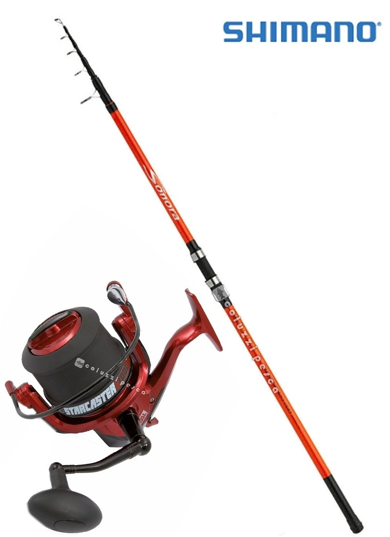 Combo Surf Shimano Sonora 150 g+Starcaster 7000
