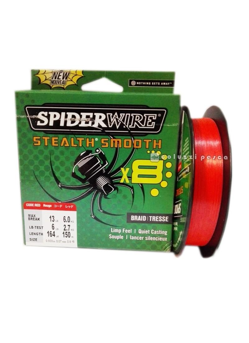 Trecciato Spiderwire Stealth Smooth 8 Capi Red