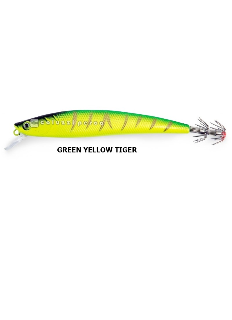 Totanara Squid Troll Revolution 13 cm Green Yellow Tiger