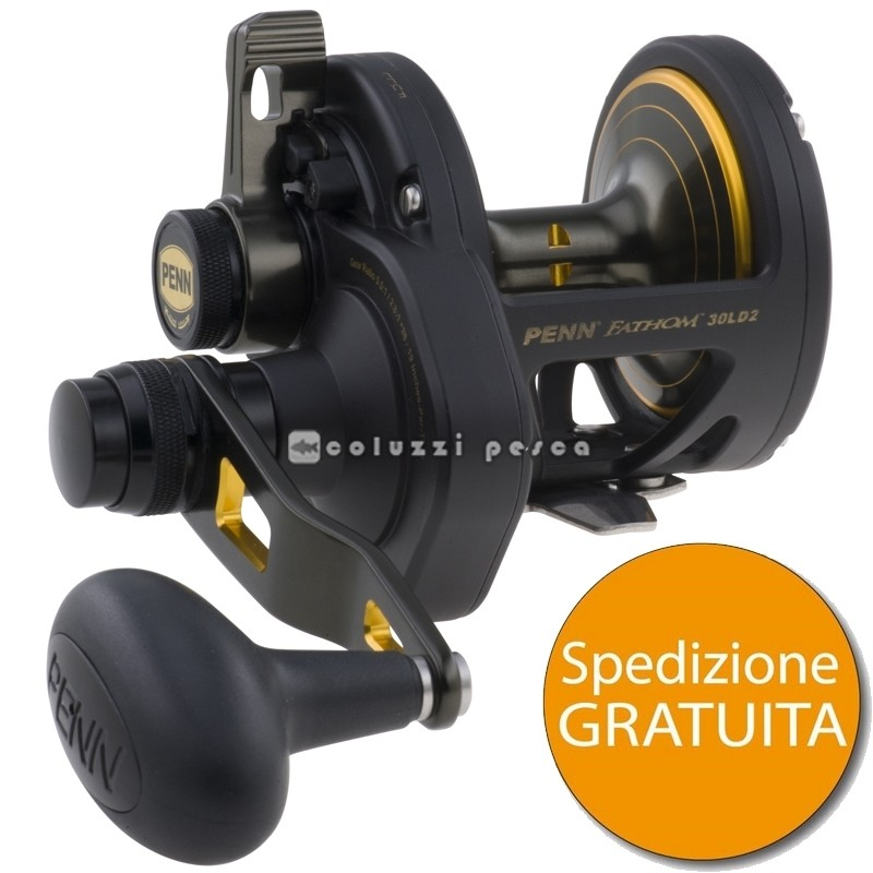 Mulinello Penn Fathom Lever Drag 2 Speed 40 LB