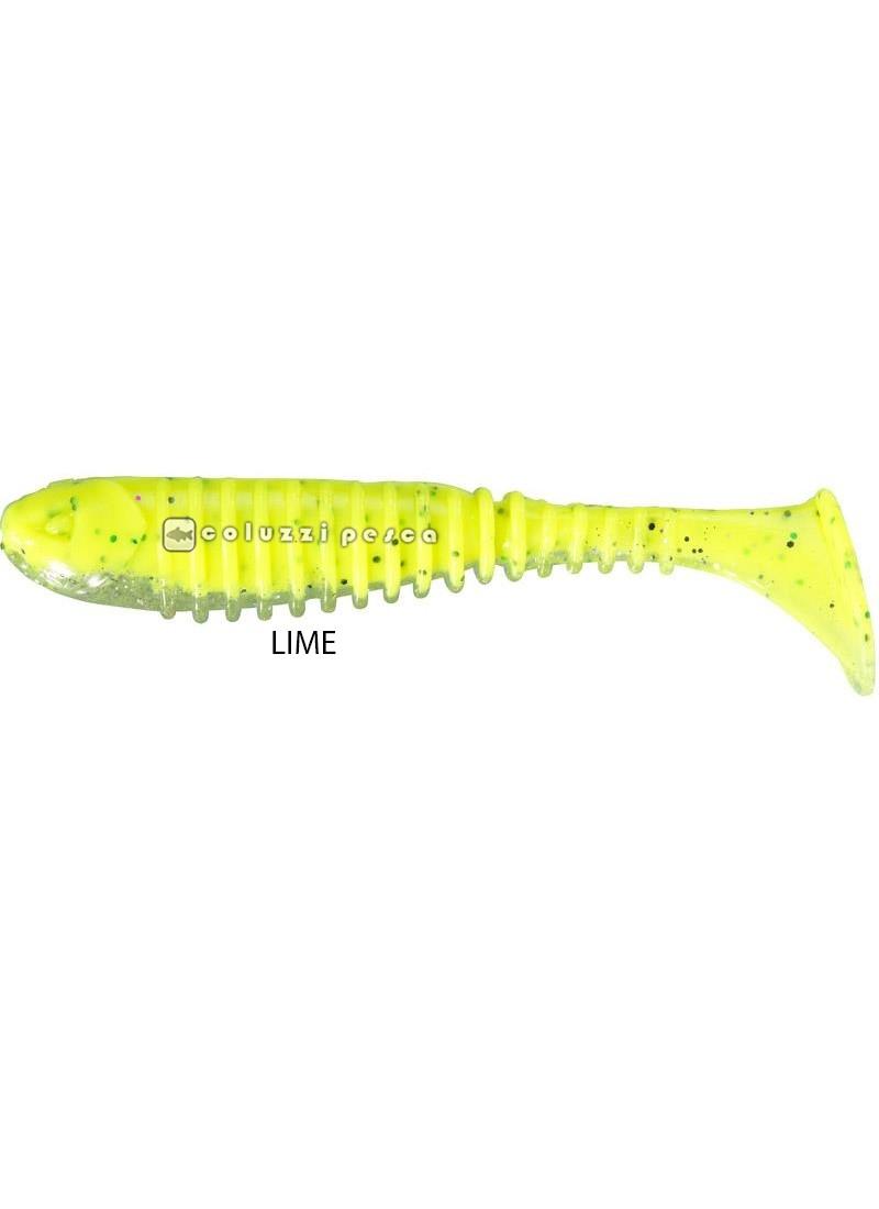 Artificiale Gomma Berkley Flex Rib Shad 6,5 cm Lime