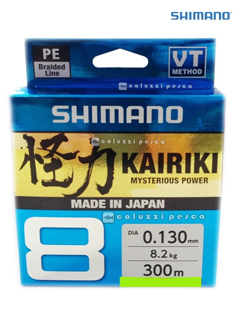 Trecciato Shimano Kairiki 8 300 m Mantis Green