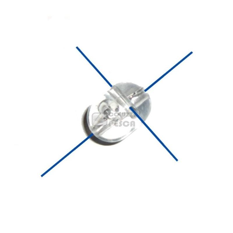 Perline 4 Fori Camor Cross Bead Trasparenti