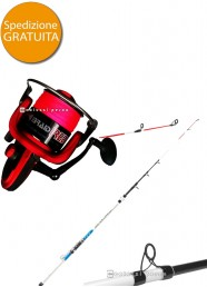 Combo Bolentino Suprema 3 m 250 g+Braid Red Power 70
