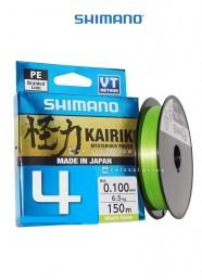 Trecciato Shimano Kairiki 4 150 m Mantis Green