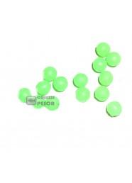 Perline Fluò Tonde 100 pezzi Morbide 6 mm