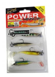 Artificiale Rapture Power Minnow Set 75 mm Clear Water