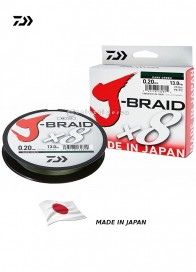 Trecciato Daiwa J Braid X8 Dark Green 300 m