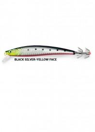 Totanara Squid Troll Revolution 13 cm Black Silver Yellow Face